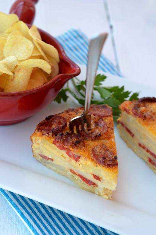 tortilla spaniola cu cartofi