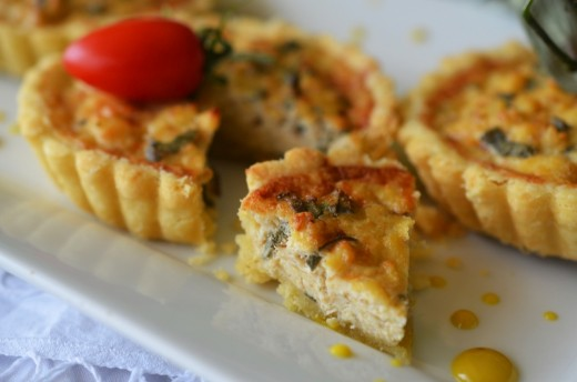 mini quiche cu tofu