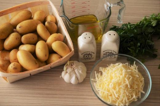 cartofi copti cu cascaval