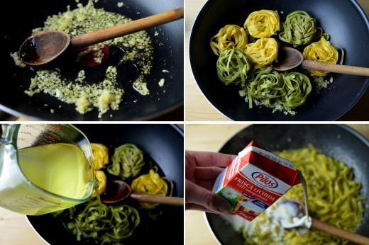 paste cu usturoi si parmesan