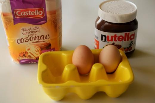 Muffins cu nutella