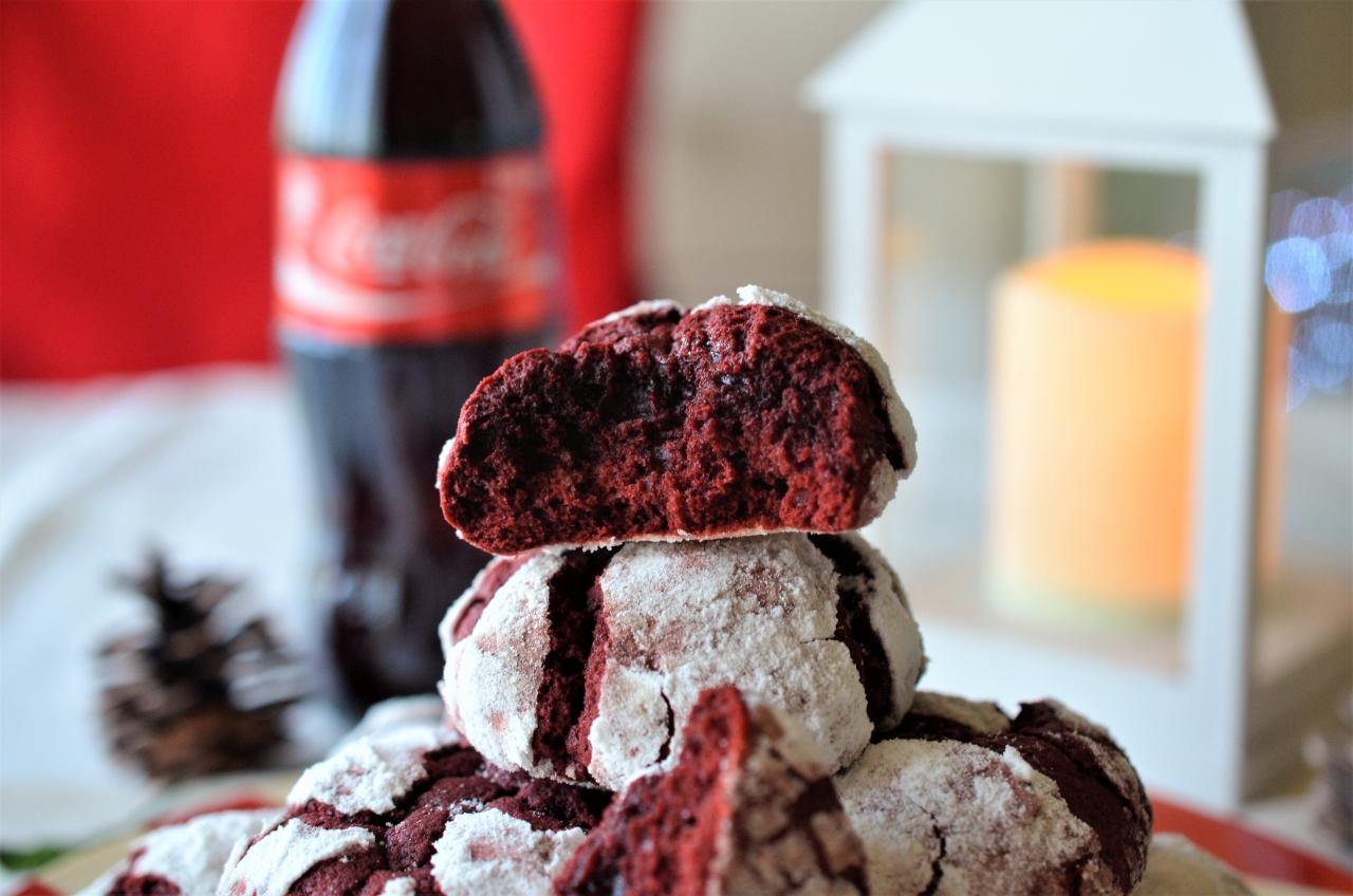 biscuiti red velvet crinkle