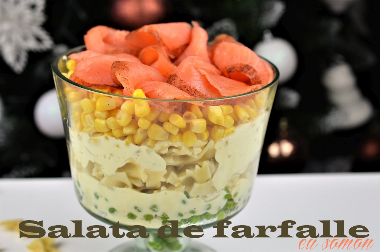 salata de farfalle cu somon