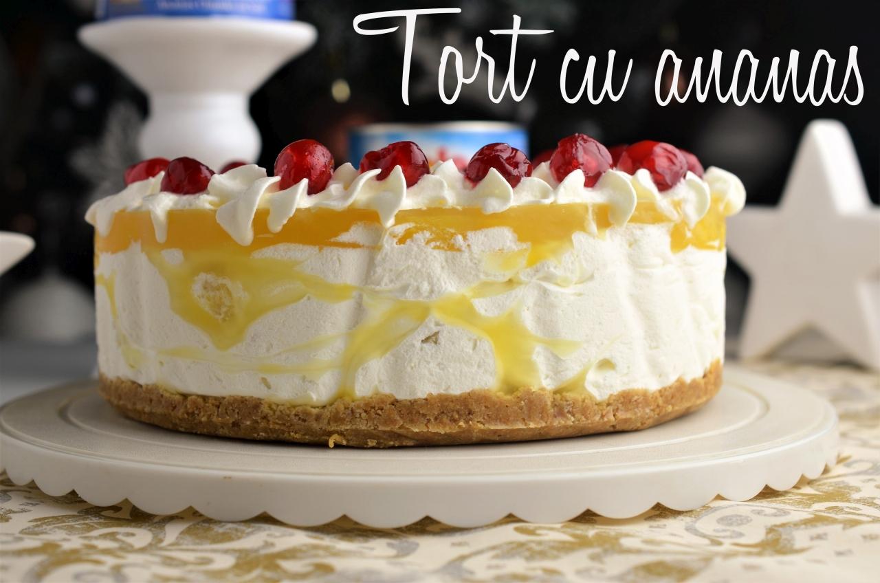 Cheesecake cu iaurt si ananas