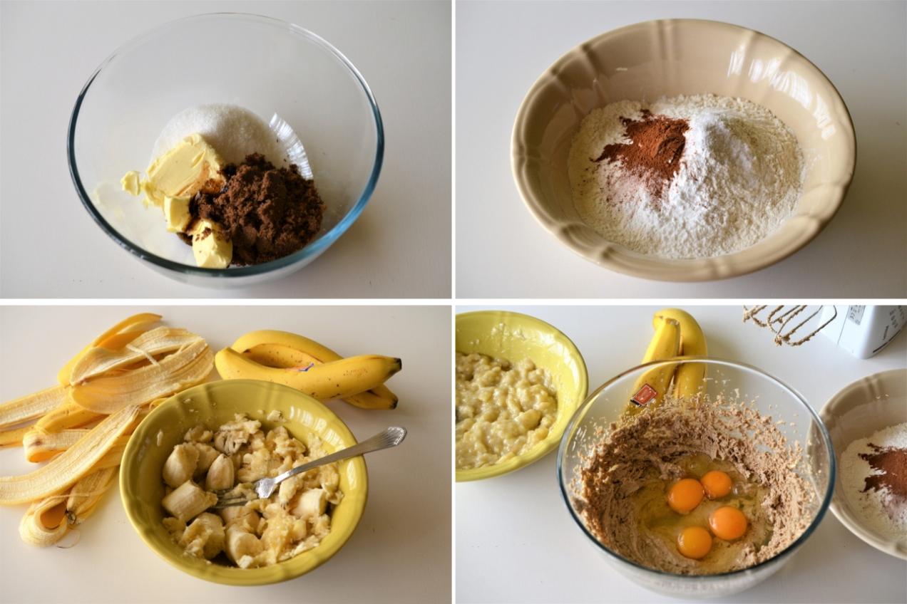 prajitura cu banane si ciocolata