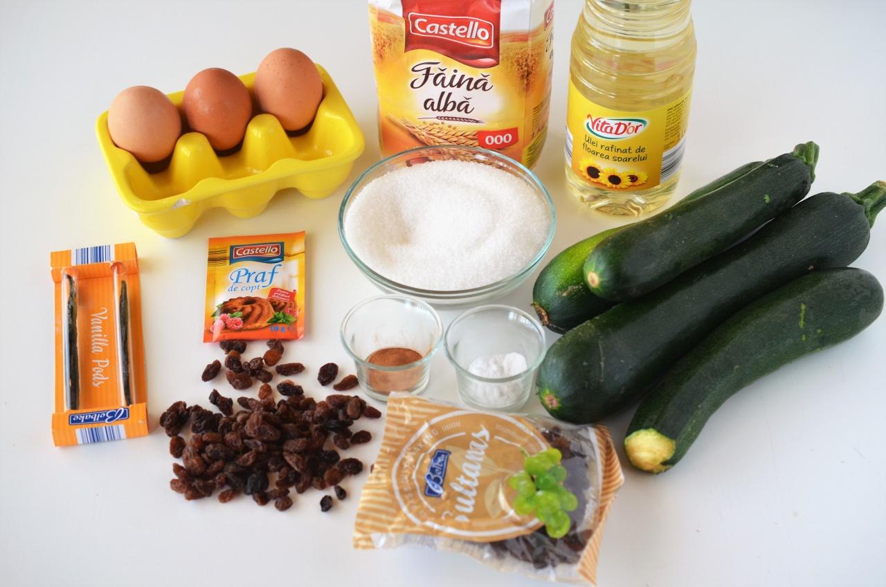 prajitura cu zucchini