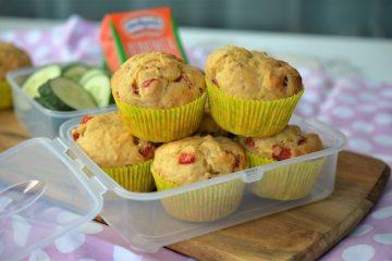 muffins sarate cu branza si ardei