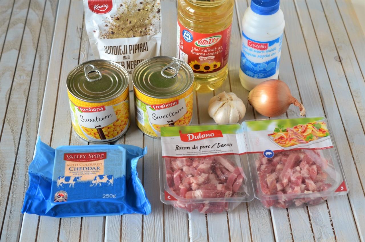caserola cu porumb si bacon