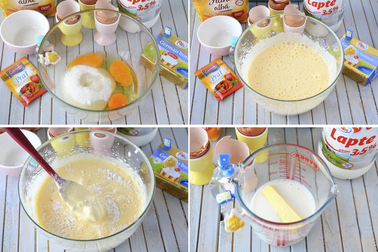 prajitura cu lapte cald