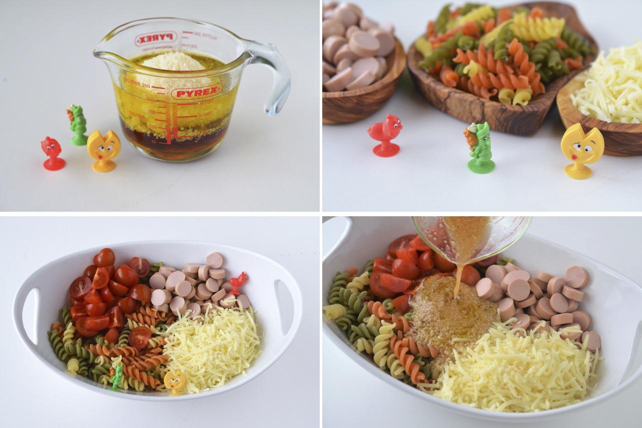 salata colorata de paste