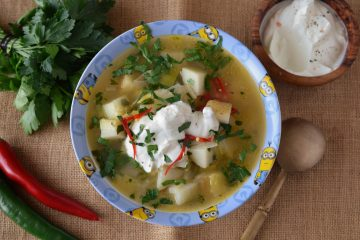 supa de cartofi cu praz