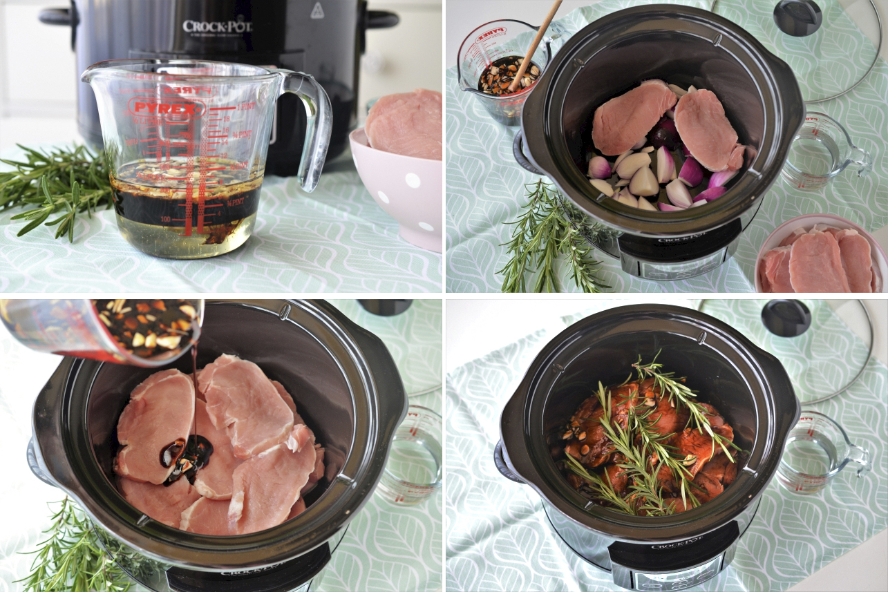 cotlet de porc la slow cooker crock pot