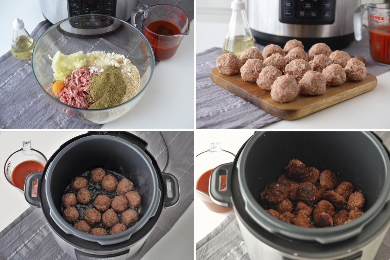 Chifltelute cu piure de cartofi