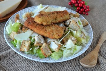 salata caesar cu peste