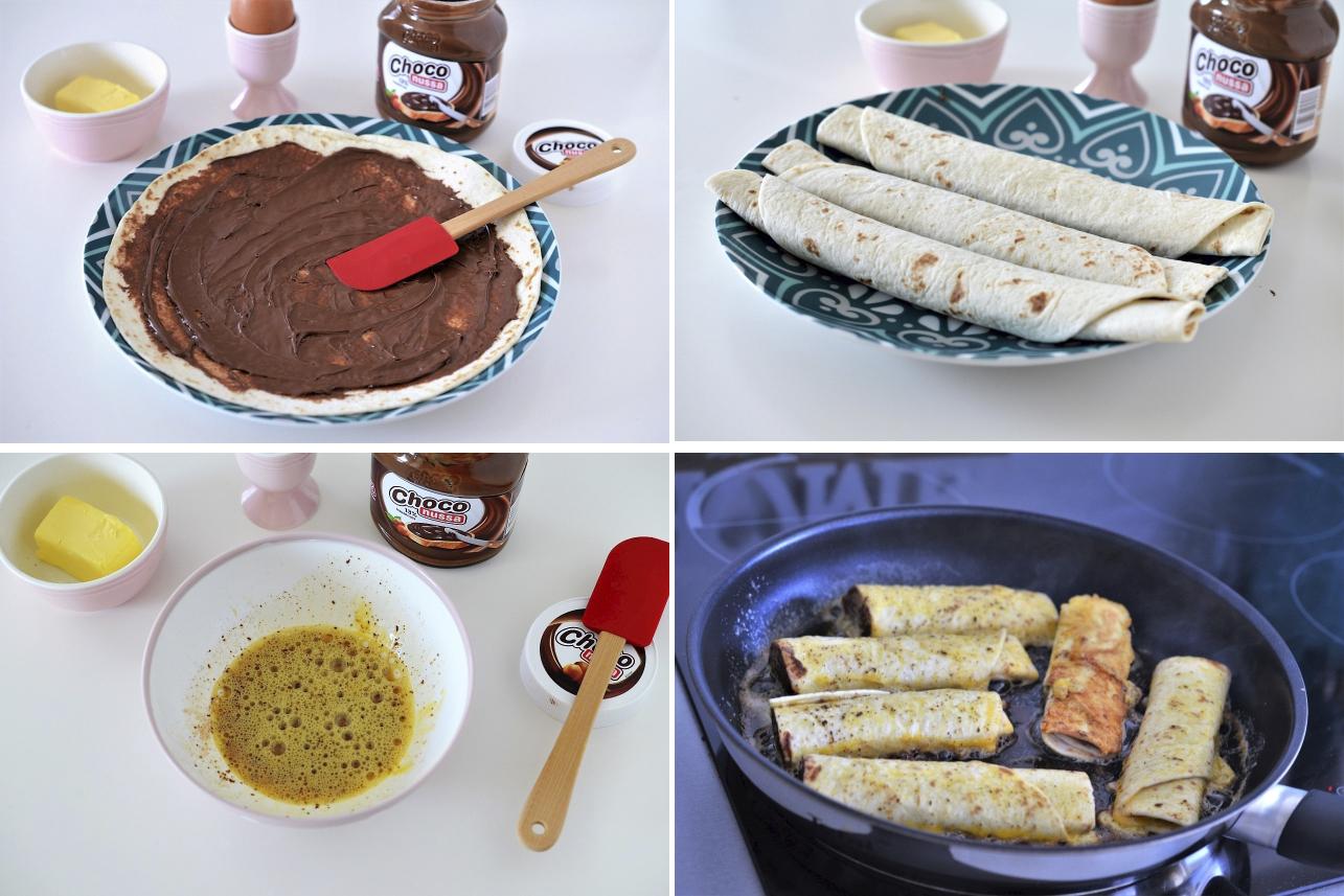 tortilla cu ciocolata