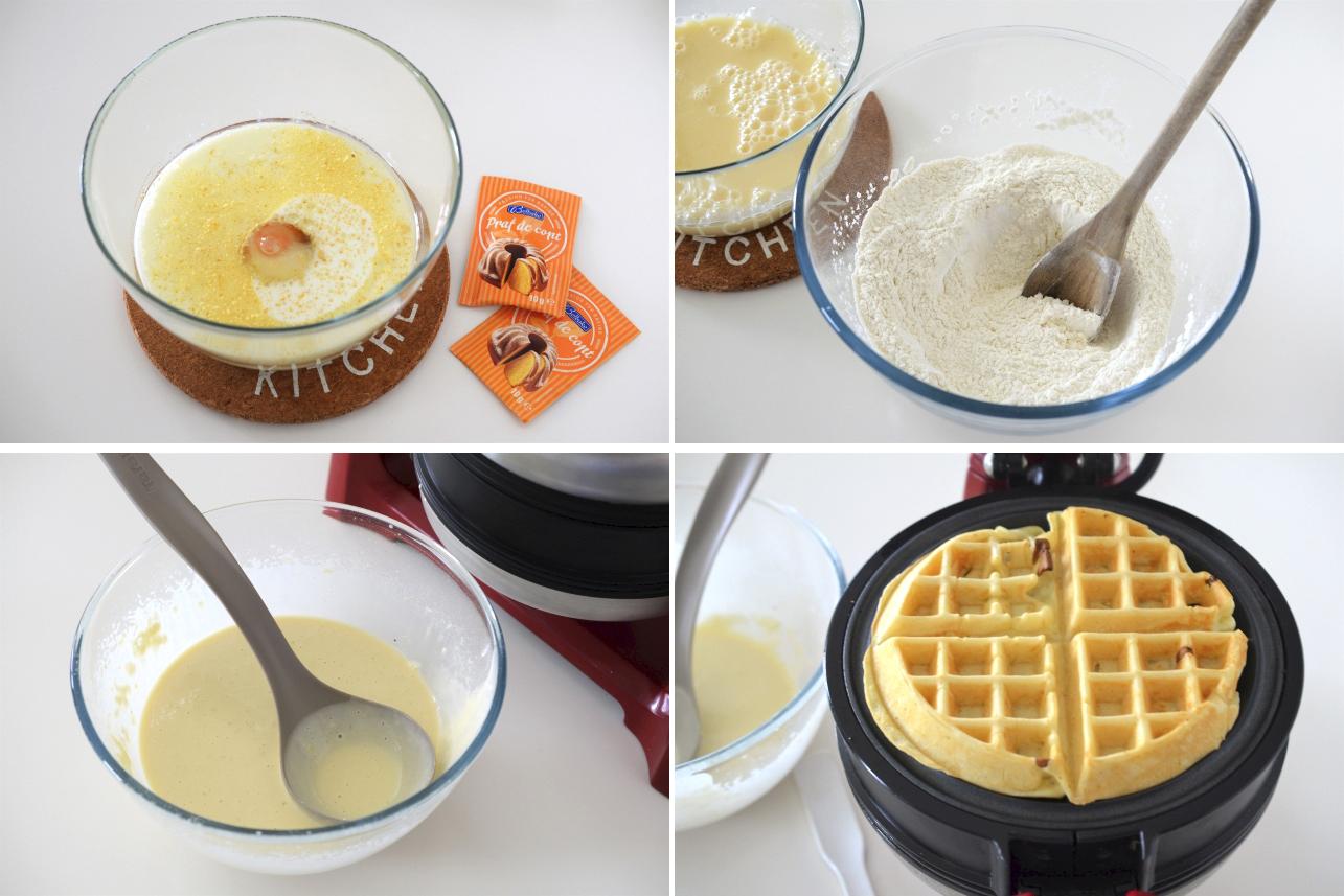 gofre pentru micul dejun