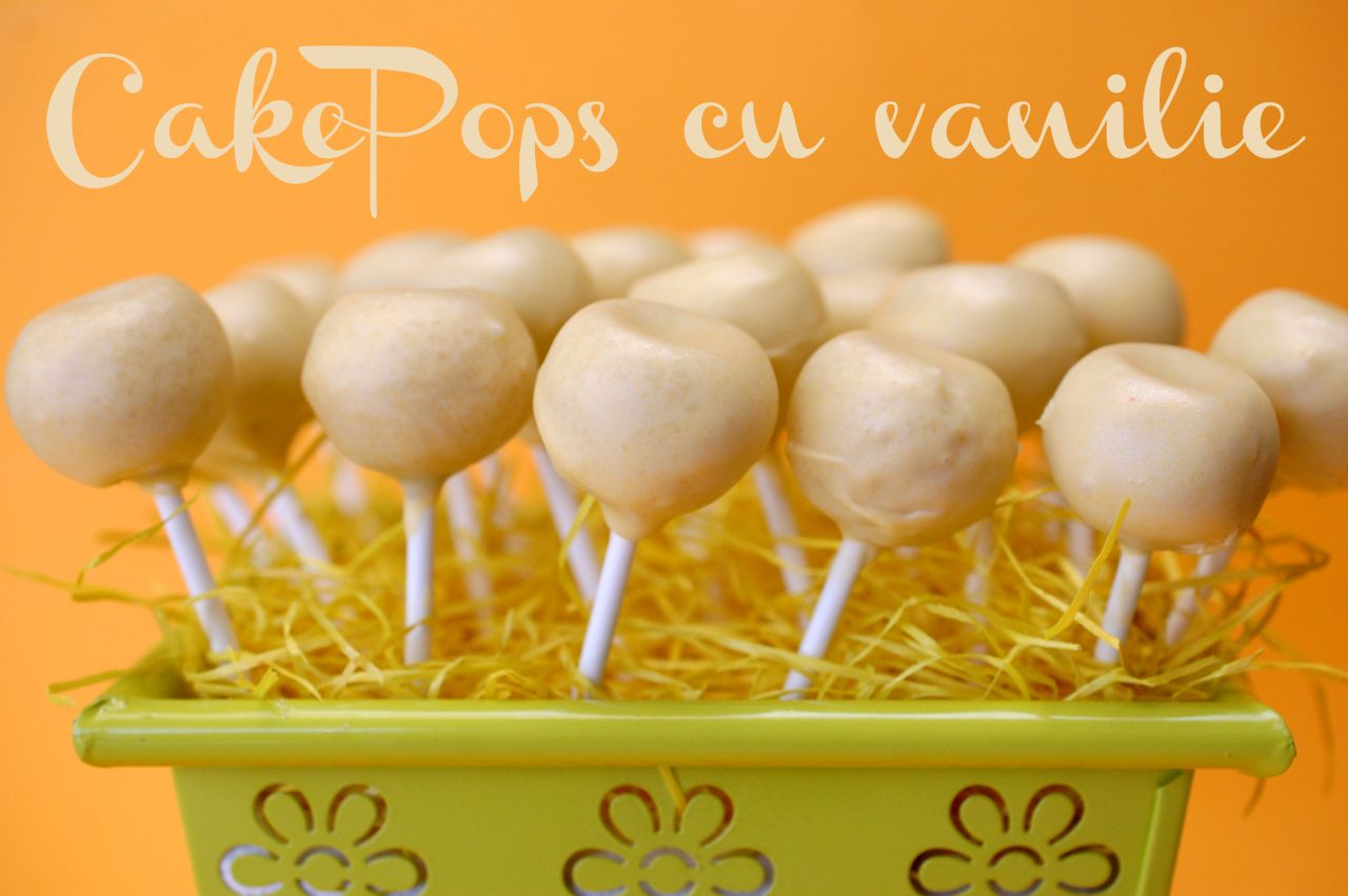 Cake pops cu vanilie