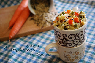 Orez salbatic cu legume