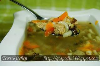 Supa de curcan cu legume